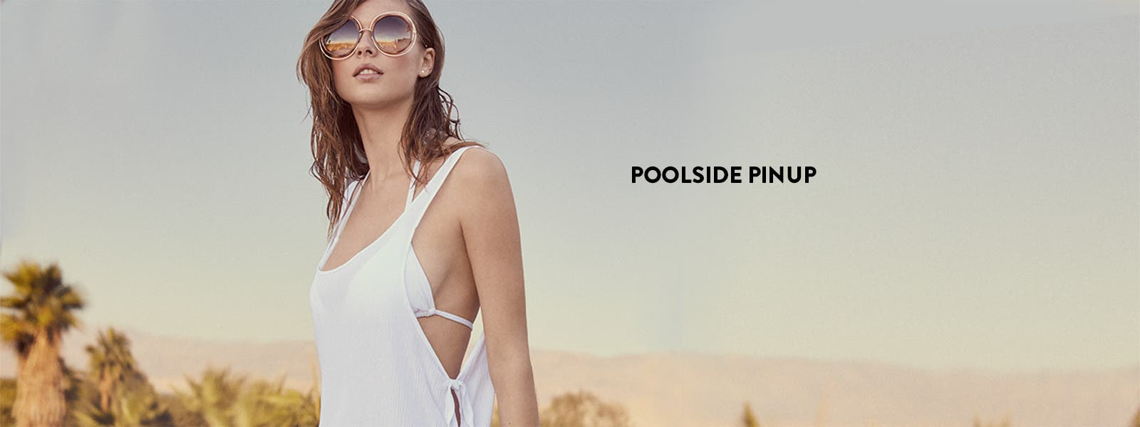 Poolside pinup: vacation swimwear.