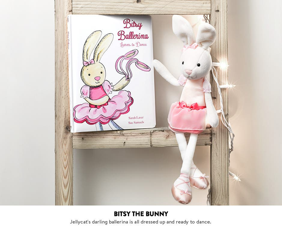 Jellycat's Bitsy Ballerina Bunny and more kids' toys.
