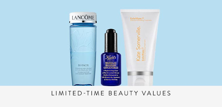 Limited-time beauty values.