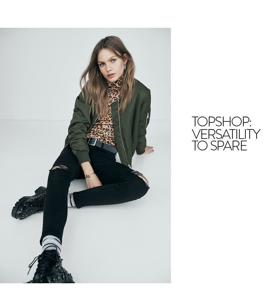 Topshop. Versatility to spare.