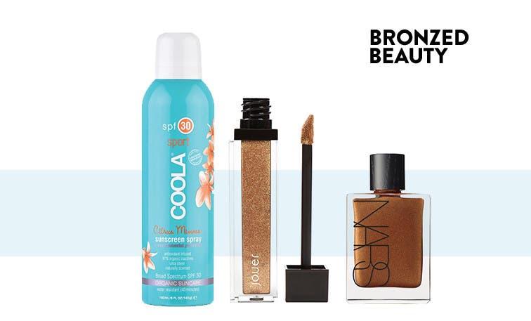 Bronzed beauty.