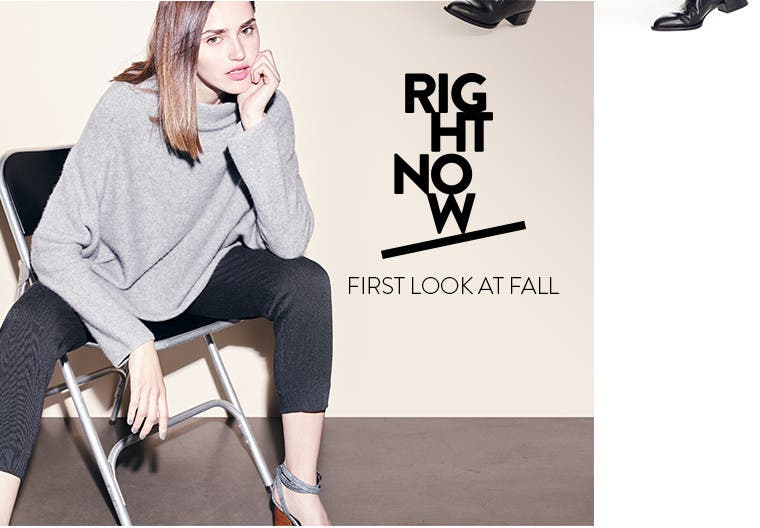 Right now: first look at contemporary fall clothing for women.