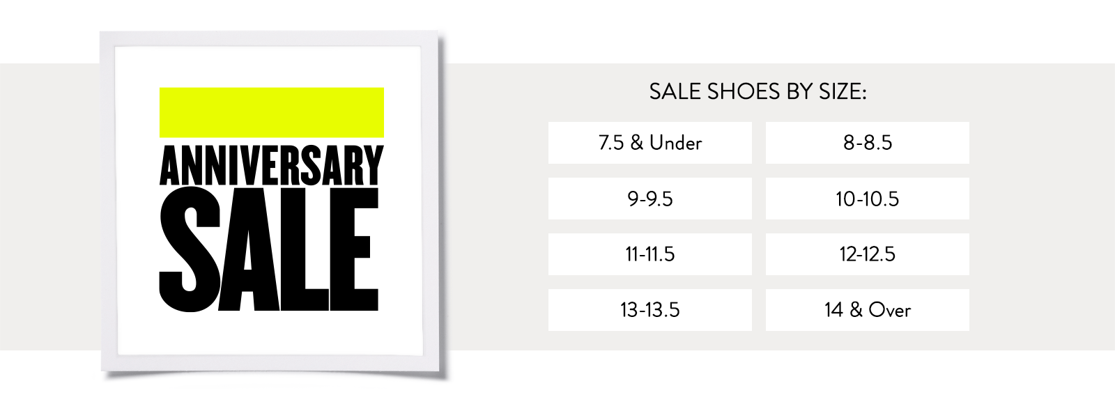 Anniversary Sale. Shop sale shoes by size.