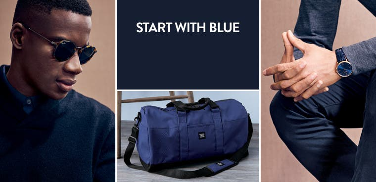 Start with blue.