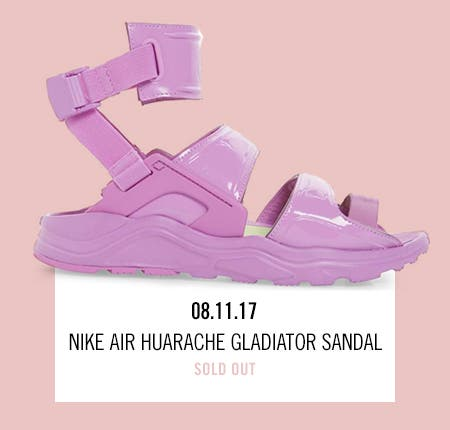 Nordstrom x Nike: new and hot Nike Air Huarache Gladiator Sandal.