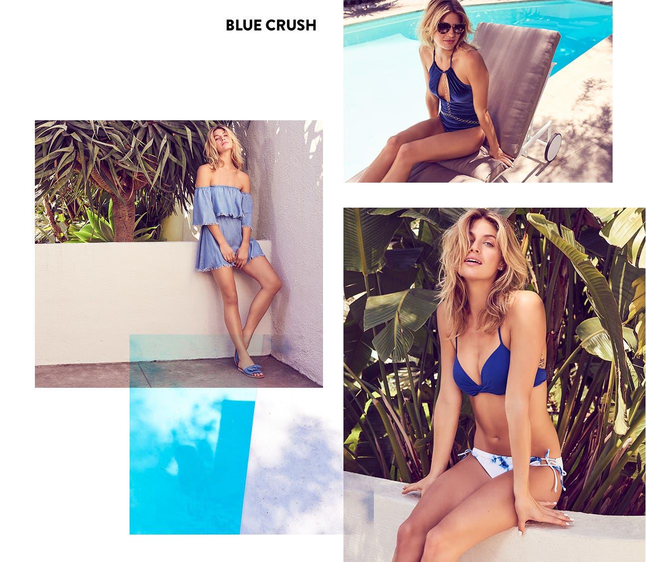 Blue crush: vacation swimwear.