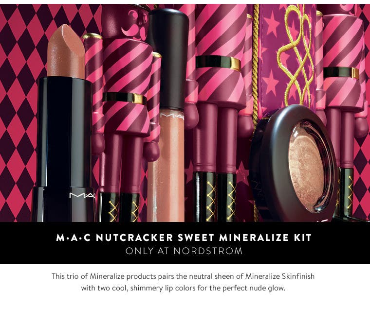 M·A·C Nutcracker Sweet Mineralize Kit.