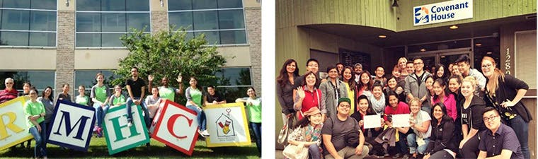 Nordstrom teams participating in Day of Caring at Ronald McDonald House in Austin, Texas, and Covenant House in Vancouver, British Columbia.