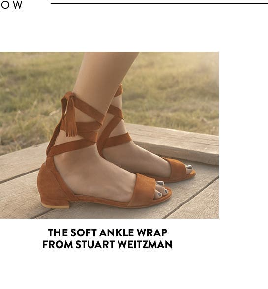 The soft ankle wrap sandal from Stuart Weitzman.