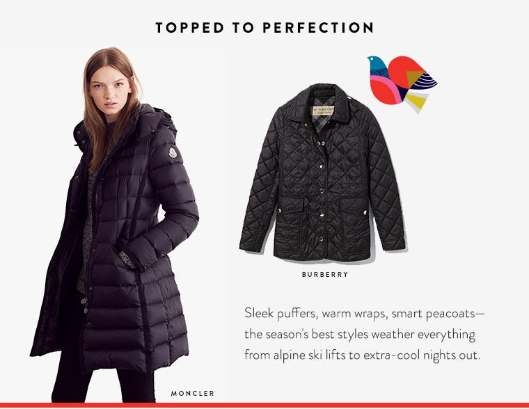 Topped to perfection. Designer coats and jackets.