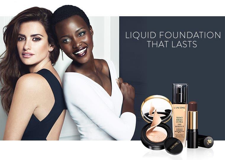 Liquid foundation that lasts.