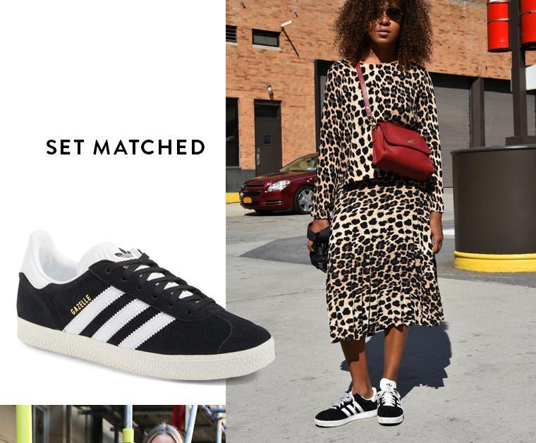 Set matched: adidas 'gazelle'.