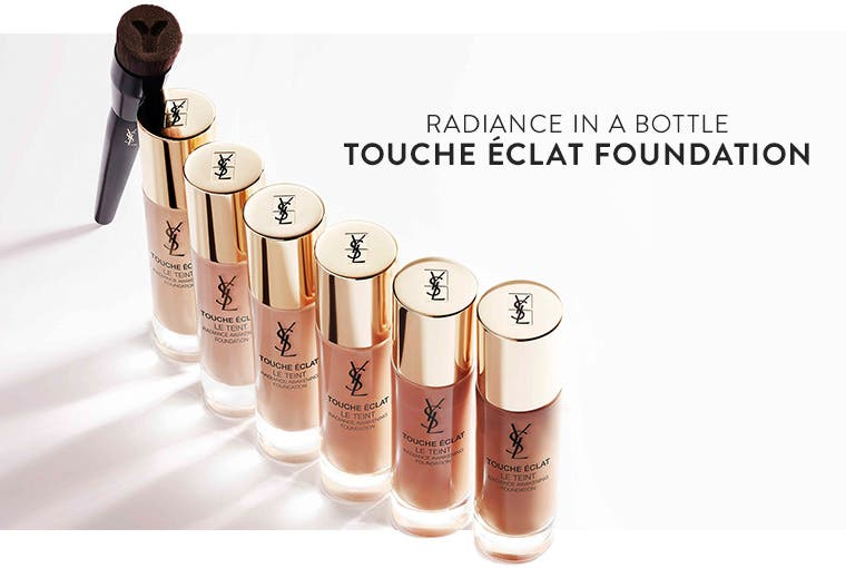Radiance in a bottle: Yves Saint Laurent Touche Éclat Foundation.