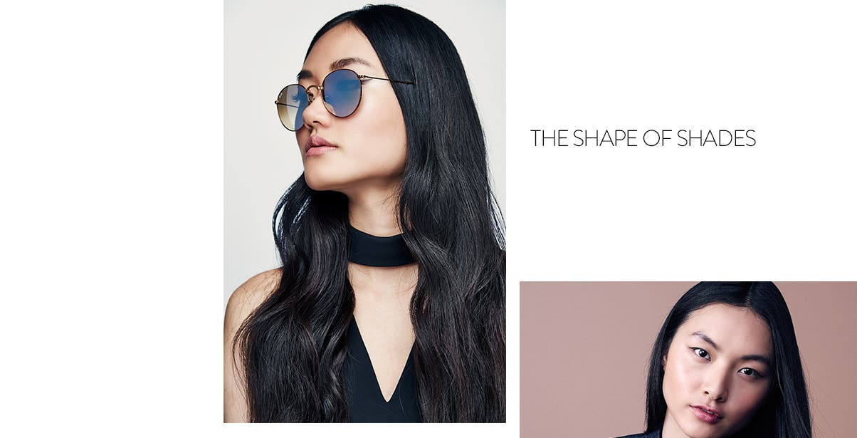 The shape of shades: round Ray-Bans.