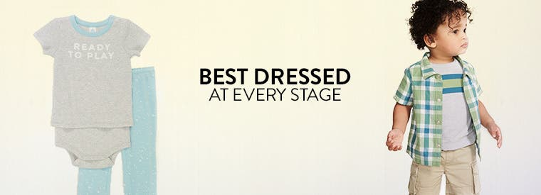 Best dressed at every stage in baby boy clothing.