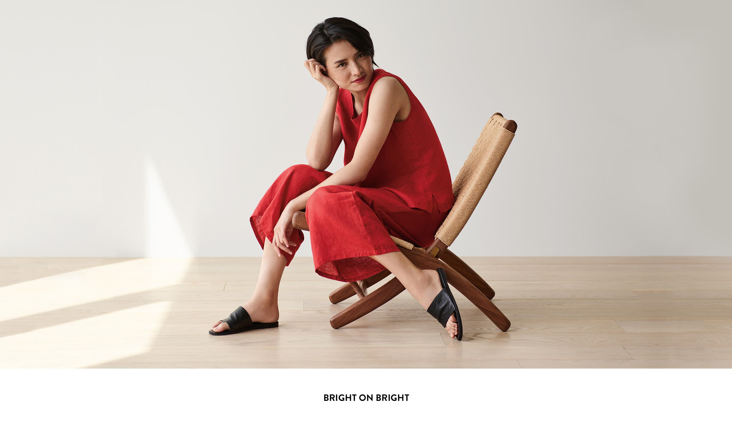 Eileen Fisher: bright on bright.