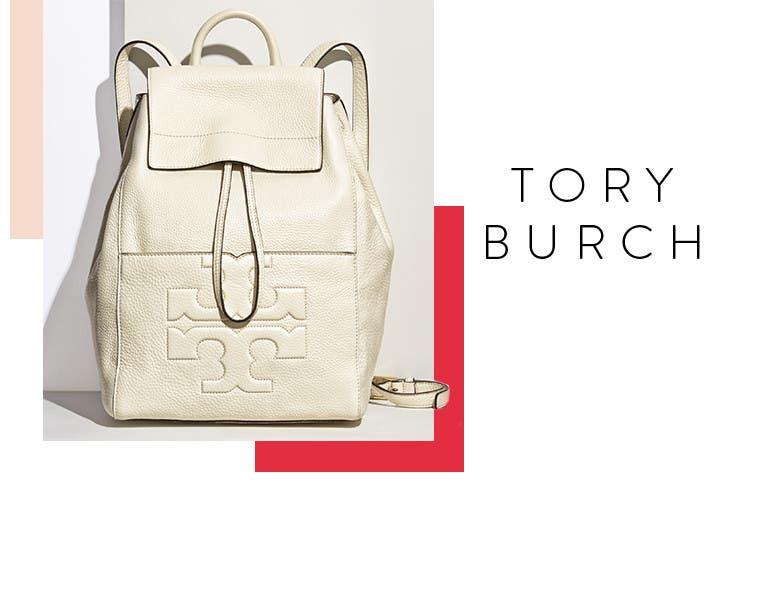 Tory Burch backpacks.