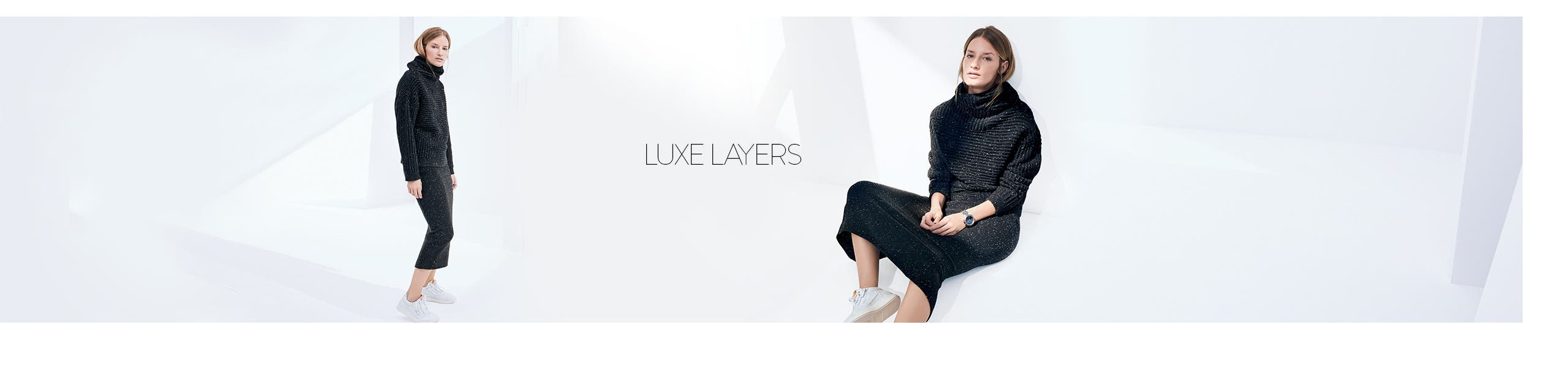 Luxe women's sweaters.