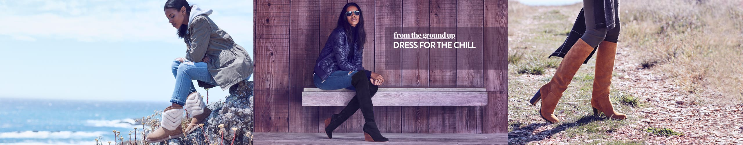 From the ground up: dress for the chill in the latest women's fall boots.