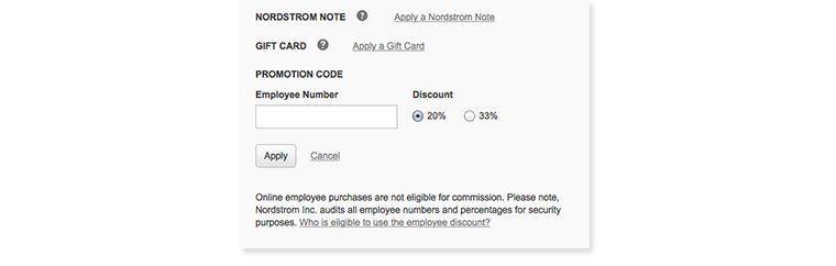 Screenshot of the employee number box.