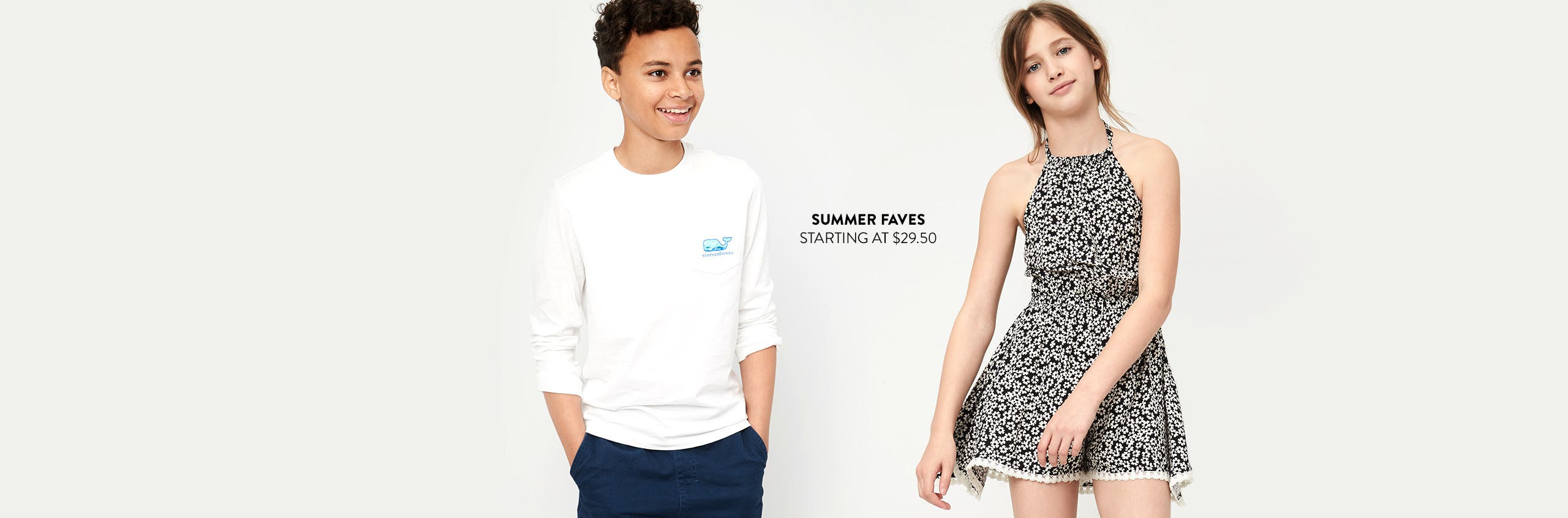 Summer faves for kids, starting at $29.50.