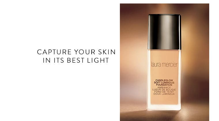 Introducing Candleglow Soft Luminous Foundation by Laura Mercier.