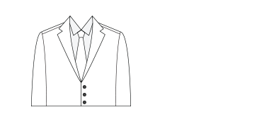 Natural suit silhouette illustration.