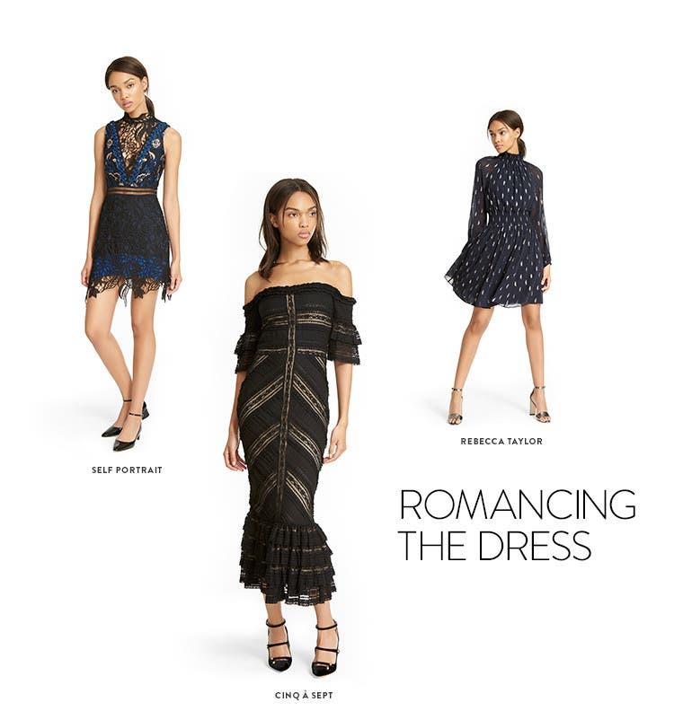 Romancing the dress.