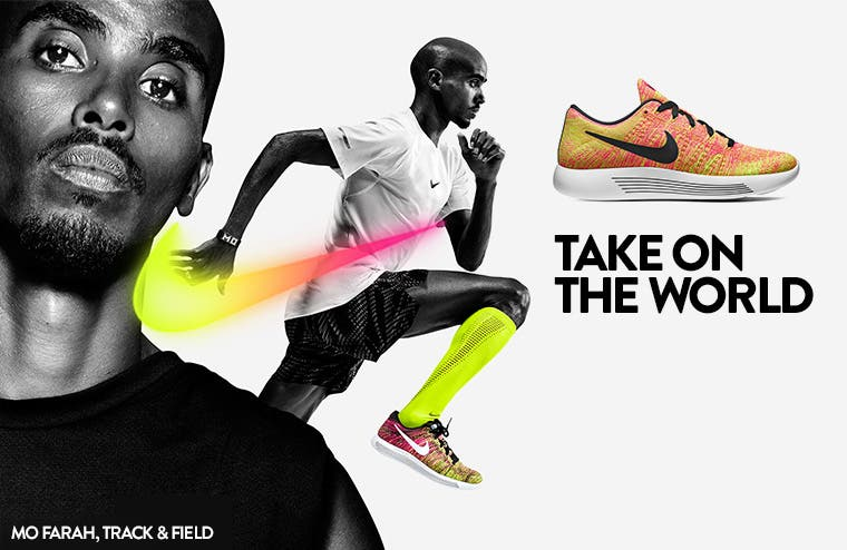 Take on the world with special-edition Nike.