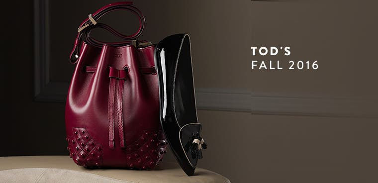 Tod's fall 2016 collection. Designer handbags and shoes.