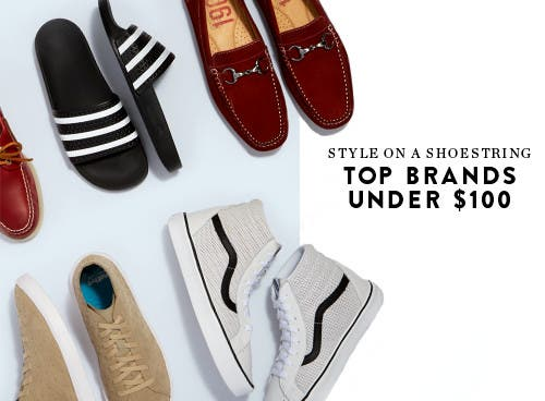 Style on a shoestring: top men's shoes under $100.