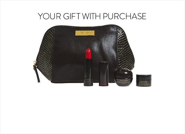 Your Shiseido gift with purchase.