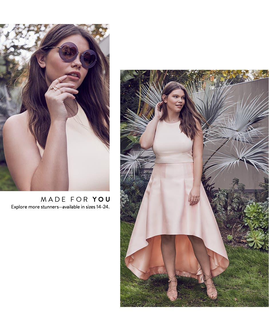 Made for you. Plus-size prom dresses.