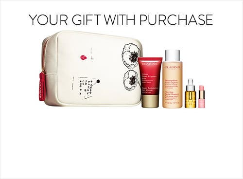 Clarins gift with purchase.