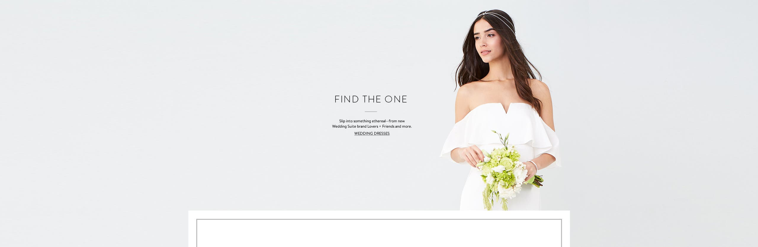 Find the one: wedding gowns from Lovers + Friends and more.