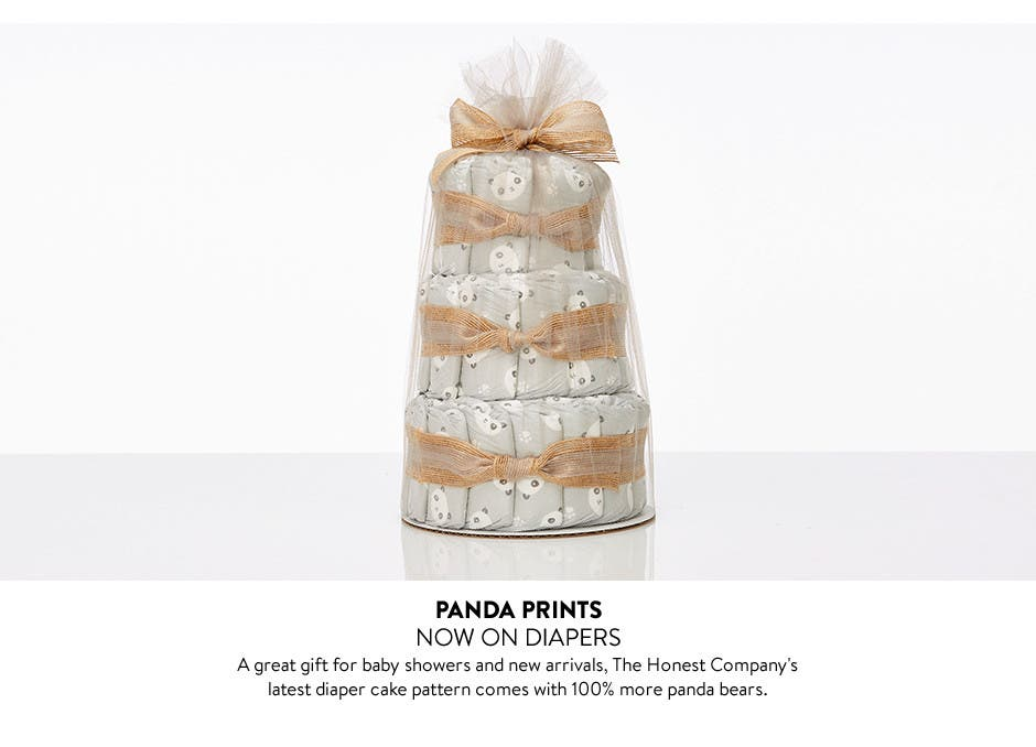 The Honest Company's diaper cakes, baby bathing products and more.