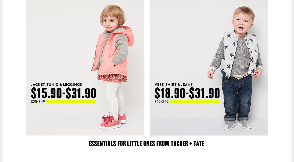 Essentials for little ones from Tucker + Tate.