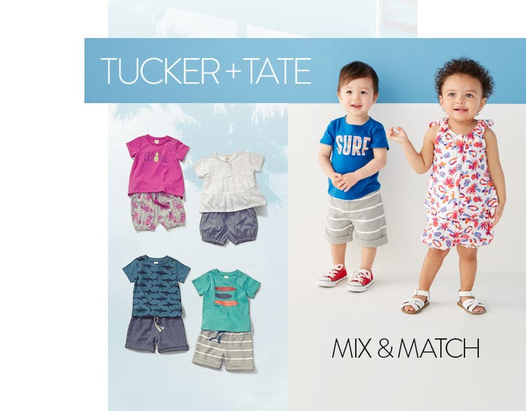 Tucker + Tate mix-and-match baby clothes.