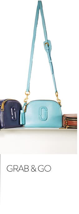 Grab and go. Shop handbags and wallets.