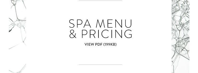 Spa Nordstrom: view pricing menu.