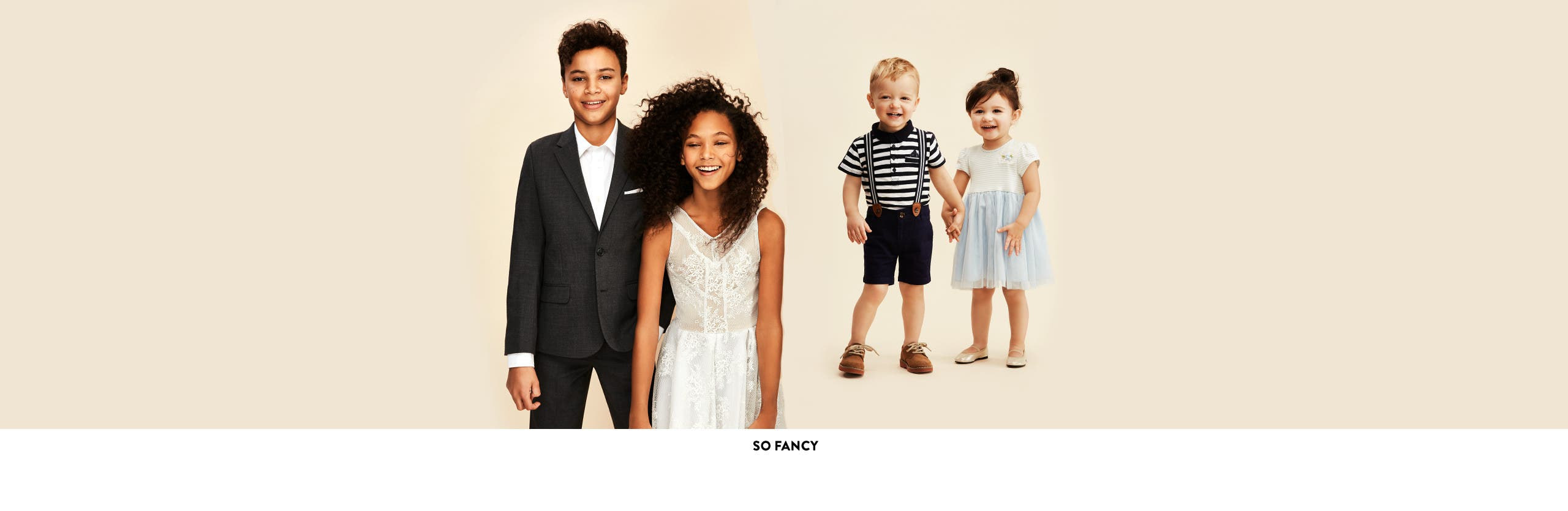 Fancy special-occasion kids' clothes, shoes and more.
