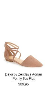 Daya by Zendaya Adrian Pointy Toe Flat.