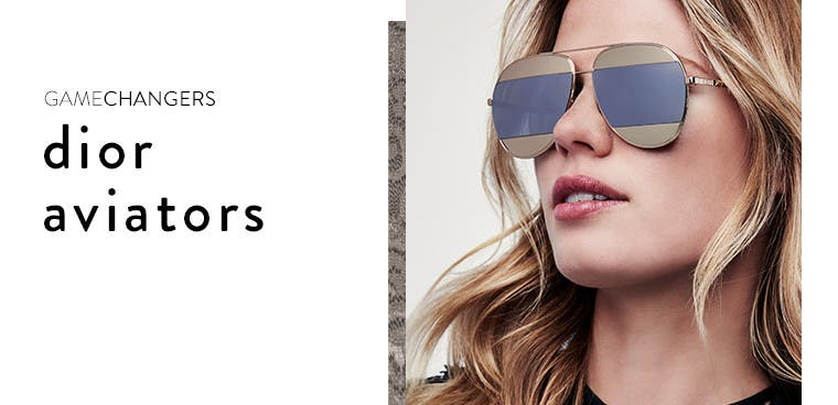 Gamechangers: Dior aviators for fall.