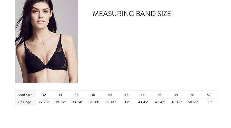 Measuring your bra band size.