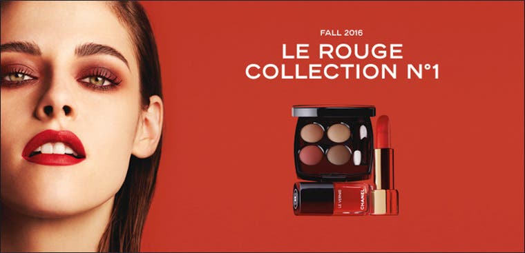 CHANEL Fall 2016 makeup: Le Rouge Collection No 1.