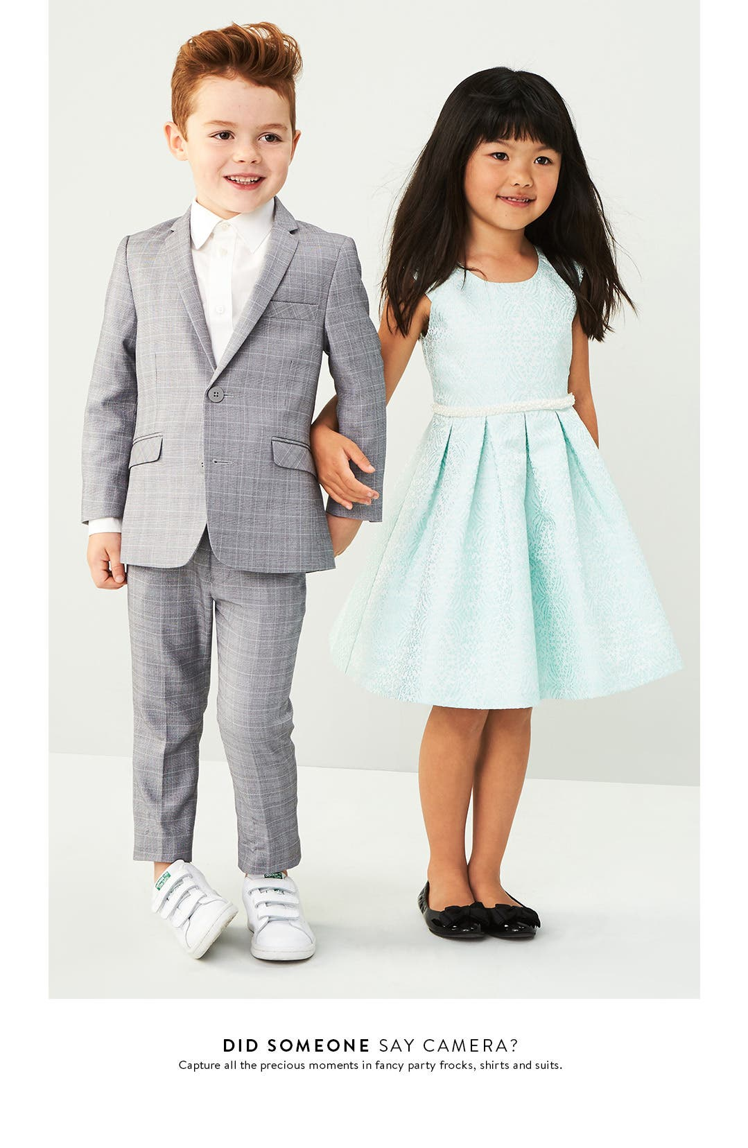 Kids' special occasion clothing.