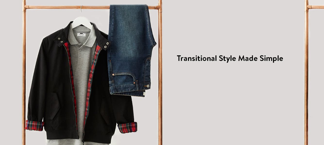 Transitional style made simple. Clothing for men from Topman.