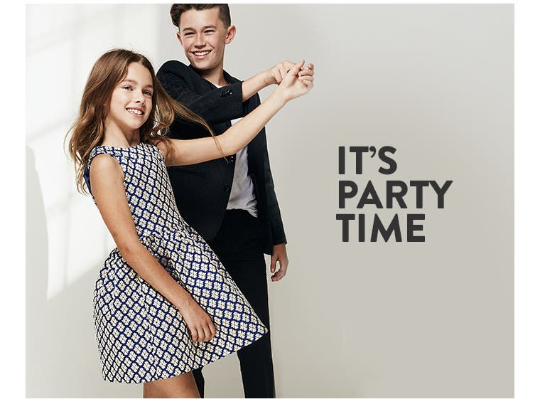 It's party time with kids' special-occasion clothing and more.