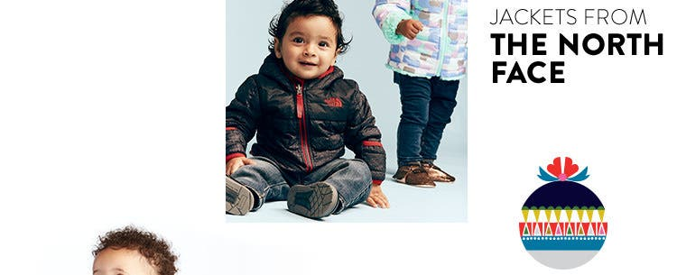 Baby coats and jackets from The North Face and more.
