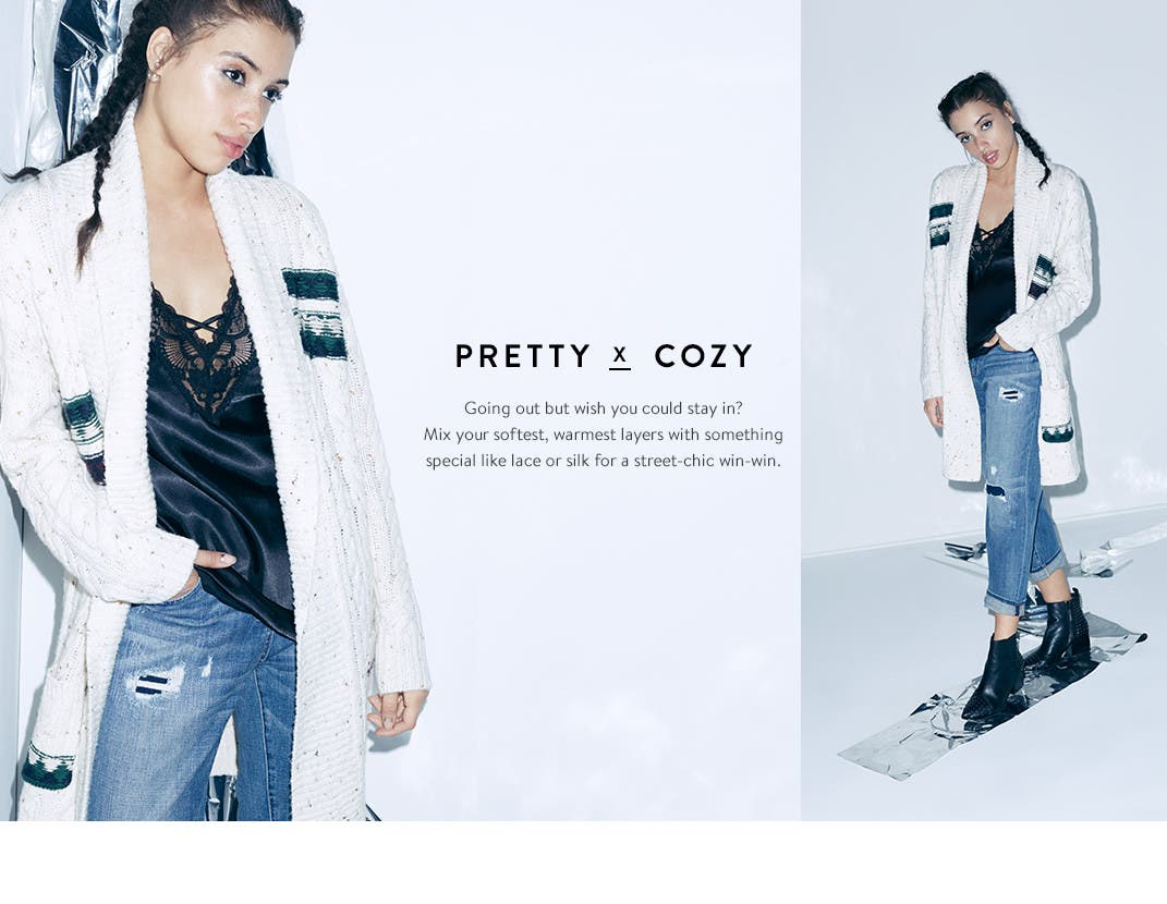 Pretty and cozy trend clothing.
